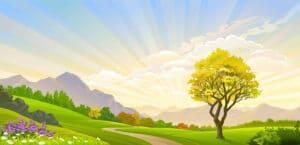 illustrierte Landschaft