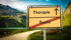 Therapie Ausweg Schild